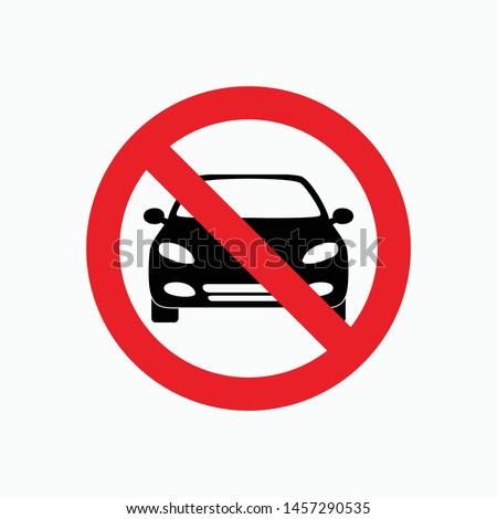 no parking sign icon vector