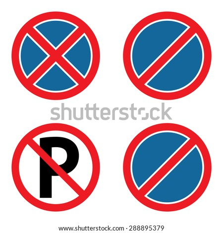 No parking sign set