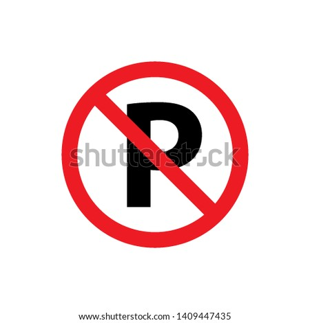 no parking sign symbol icon