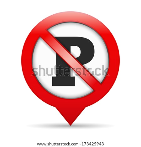 No parking sign, vector eps10 illustration