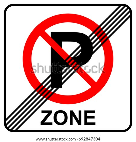 no parking zone end sign
