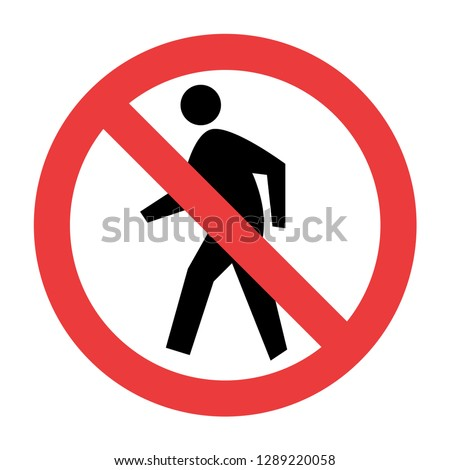 No Pedestrian Sign vector