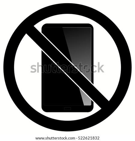 no phone sign no talking by phone sign vector illustration no call symbol