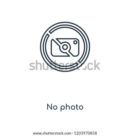 no photo concept line icon