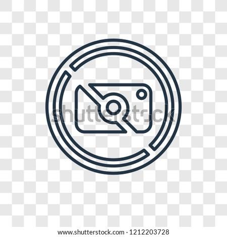 no photo concept vector linear