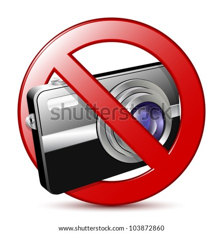 No photography sign. Vector illustration - stock vector