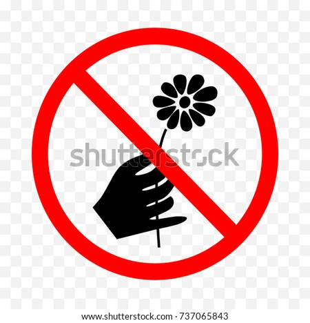 Amazoncom NO PICKING PLEASE Sign Dont pick our flowers
