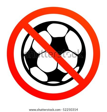 no play or football sign