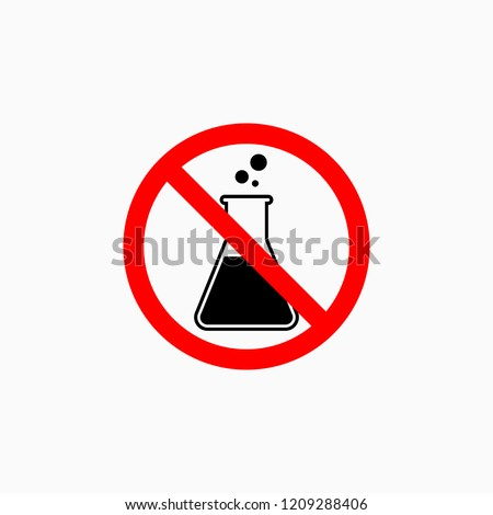no preservative icon, chemical free vector