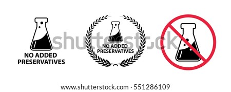 no preservative icon - vector illustration.