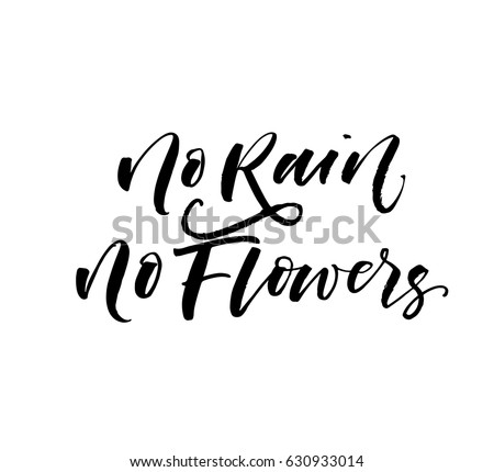 no rain no flowers postcard