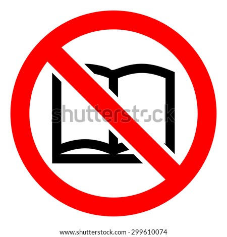 no read a book icons set great