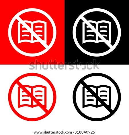 no read book icons set great