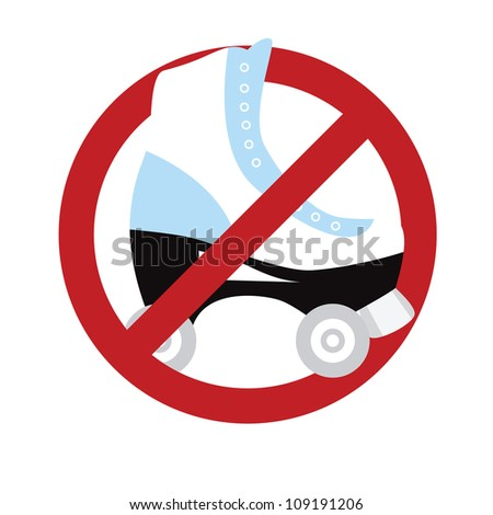 No roller skating sign isolated on white. Vector illustration with simple colors.