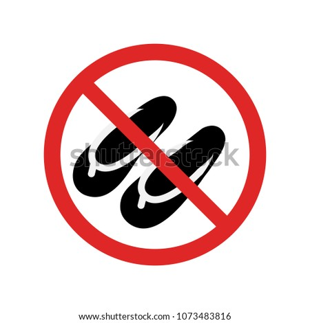 4a9bbf6324b735 No sandals sign vector illustration