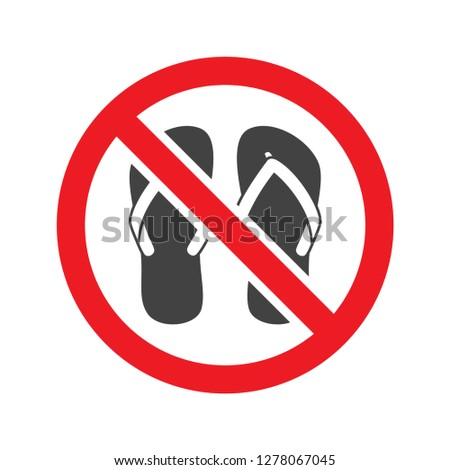 86cf9256eda0d7 No sandals sign vector isolated