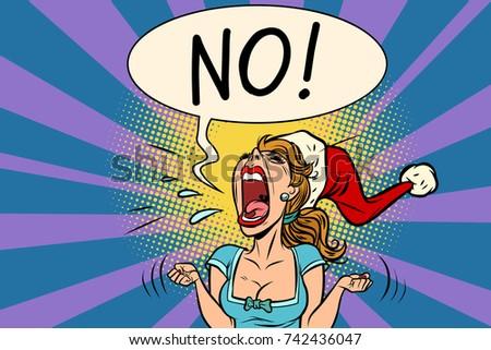 no screams santa woman