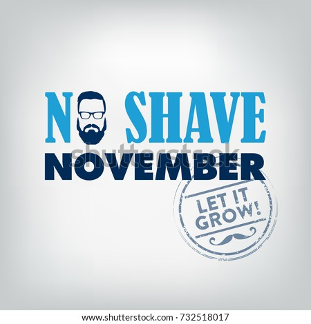 No Shave November Typographic Vector Design