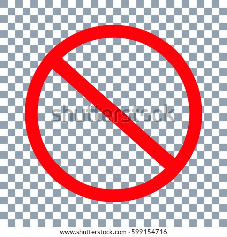 No Sign icon. Vector on transparent background