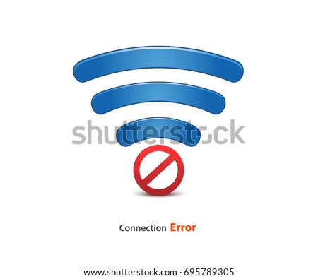 No signal, bad antenna, no wifi, no wireless connection symbol. wifi connection error icon