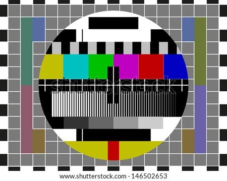 No signal TV screen