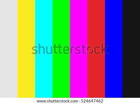 No signal TV test pattern background. Vector illustration.