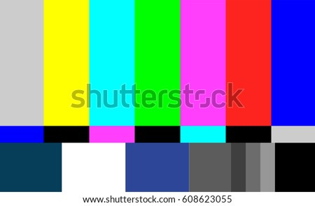 no signal tv test pattern