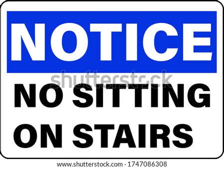 no sitting on stairs do not sit