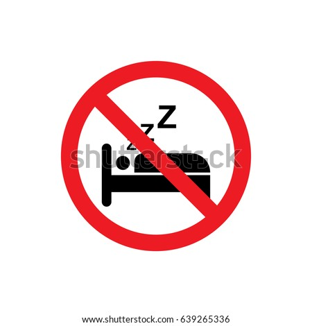 No sleeping icon illustration isolated vector sign symbol