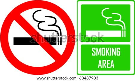 no smoking and smoking area