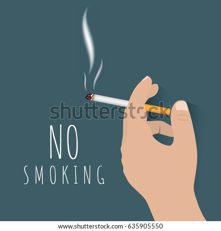 no smoking concept hand