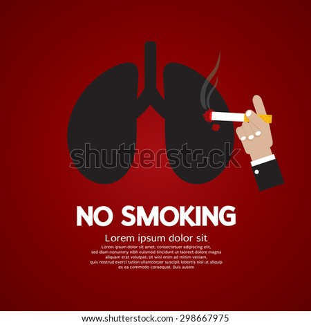 no smoking concept vector