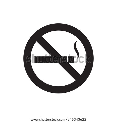no smoking icon illustration isolated vector sign symbol