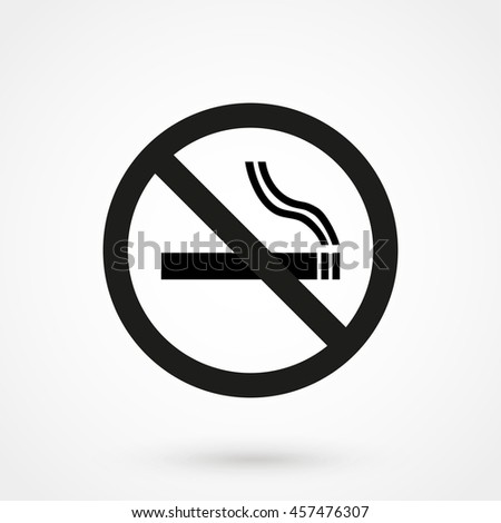 no smoking icon isolated on