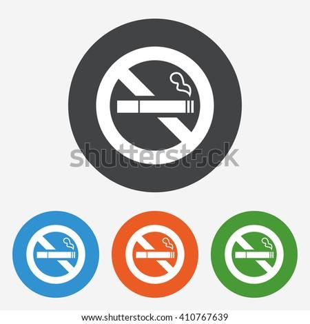 no smoking icon sign no