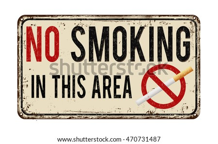 no smoking in this area vintage ...