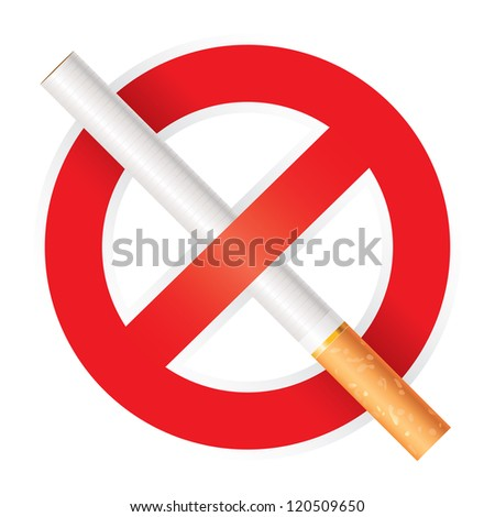 No smoking. Isolated on white background, vector illustration