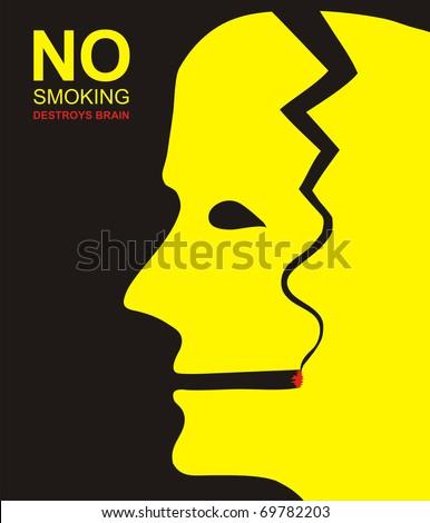 no smoking  nicotine destroys