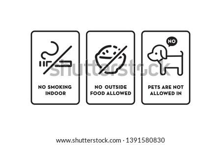 no smoking no outside food no