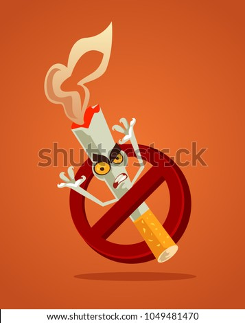 no smoking sign and angry bad