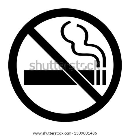 No Smoking Sign, Black Cigarette transparent vector