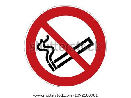 no smoking sign - cigarette smoking prohibited sign
