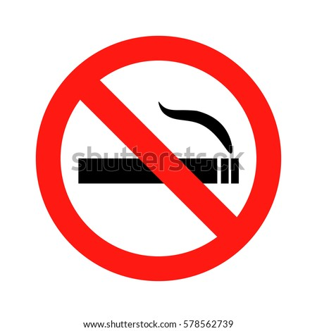 No smoking sign icon vector illustration eps