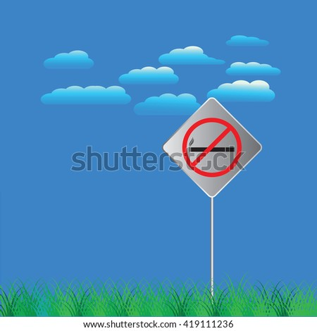 no smoking sign in the park and