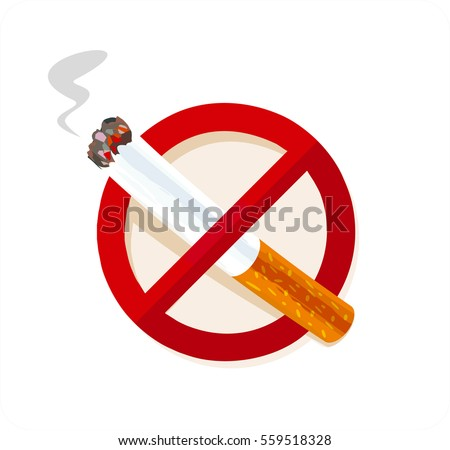 no smoking sign isolated on
