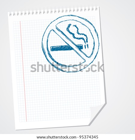No smoking sign vector doodle