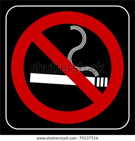 no smoking symbol, vector