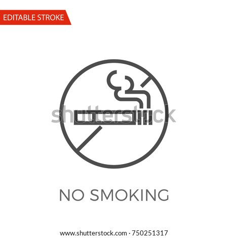 no smoking thin line vector