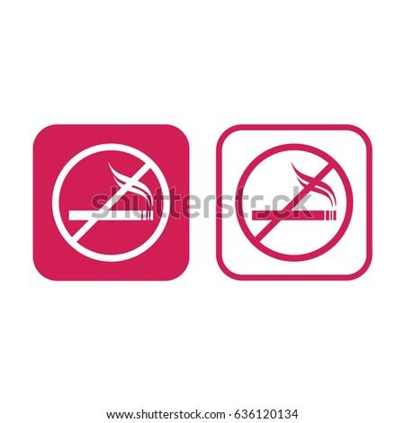 no smoking vector sign pink