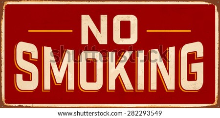no smoking vintage metal sign